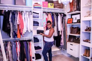 Allanna Bell loves setting up closets for All Right Moves relocation clients!